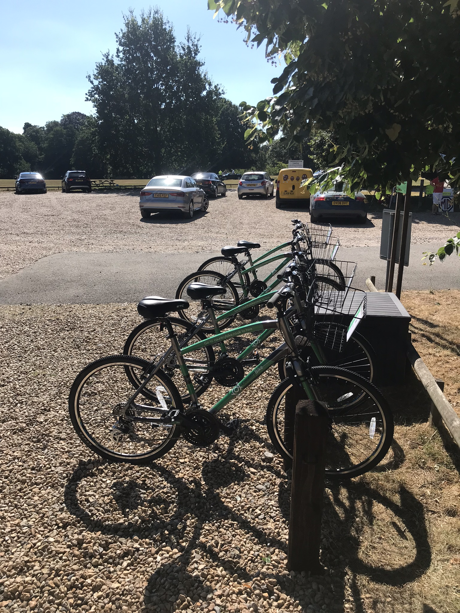 Image of bikes at Chiddingstone Castle