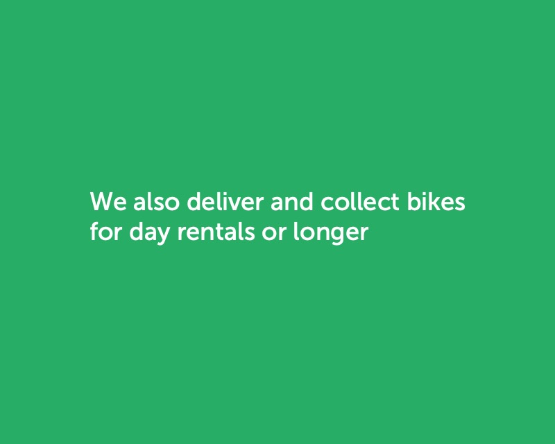 Image saying we also deliver bikes to hire