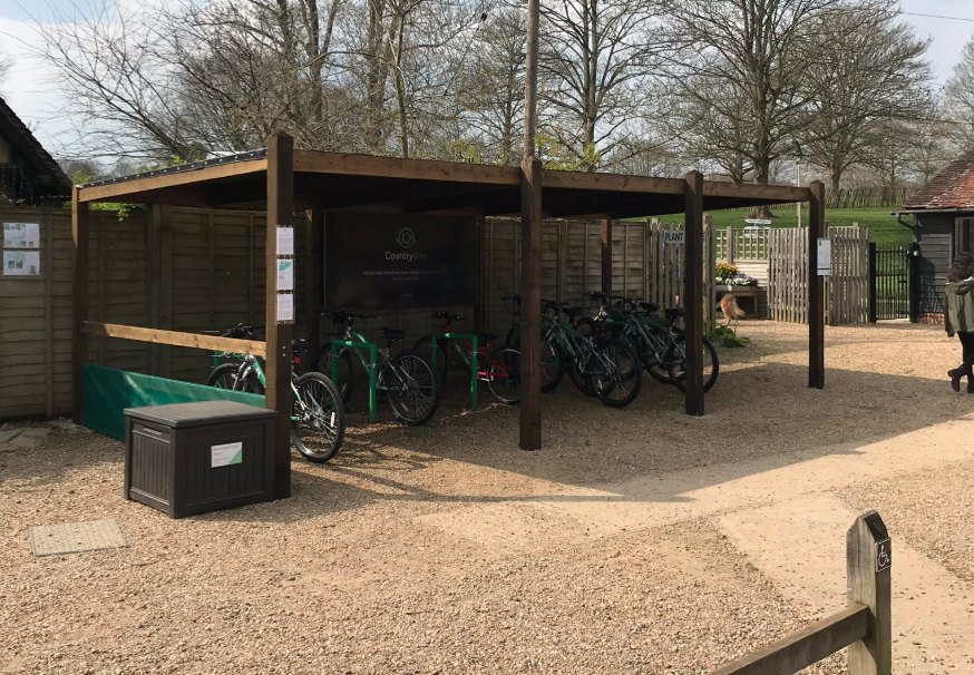 Image of bikes at Penshurst Place