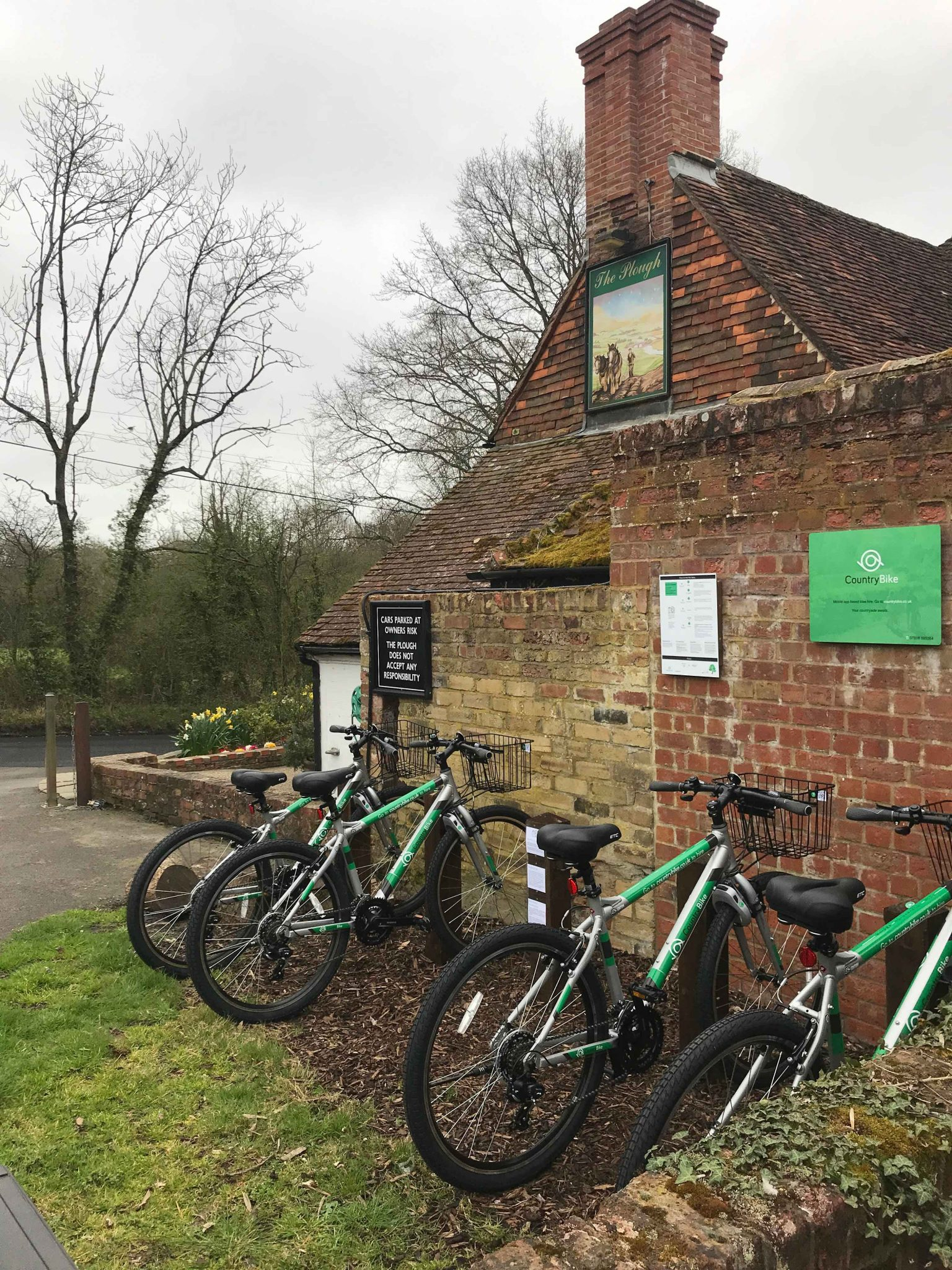 Image of bikes at the Plough